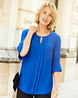 Nightingales Pleat Front Blouse