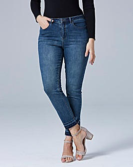 Drew Let-Down Hem Straight Leg Jeans Reg