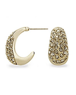 Mood Pave Crystal Section Hoop Earring