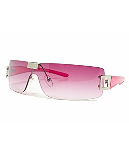 Pink Frame Smoke Lens Sunglasses