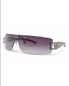 Grey Frame Smoke Lens Sunglasses