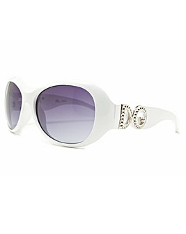 DG Eyewear White Frame Sunglasses