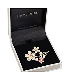 Jon Richard triple flower brooch