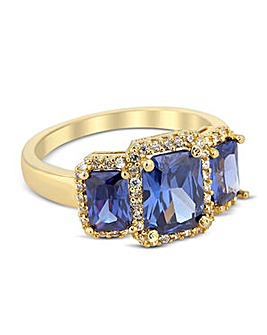 Jon Richard triple blue stone ring