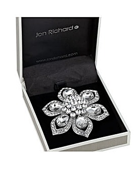 Jon Richard crystal peardrop brooch