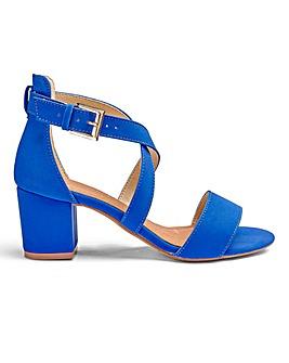 Heavenly Soles Block Heel Sandal EEE Fit