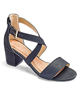 Heavenly Soles Block Heel Sandal EEE Fit