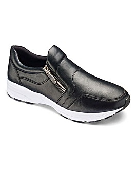 Heavenly Soles Zip Trainer Shoes E Fit