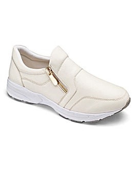 Heavenly Soles Zip Trainer Shoes EEE Fit