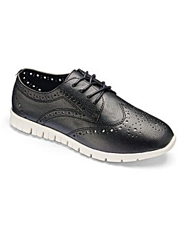 Heavenly Soles Leisure Brogues EEE Fit