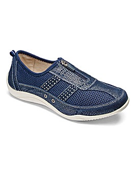 Cushion Walk Zip Shoes E Fit
