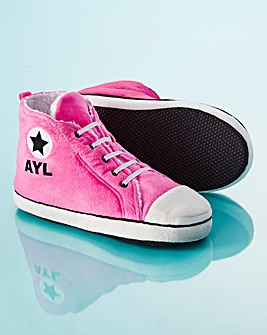 Personalised Ladies Hi-Top Slippers