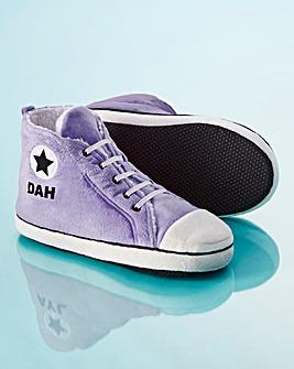 Personalised Ladies Hi-Top Slippers