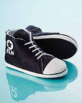 Personalised Mens Hi-Top Slippers