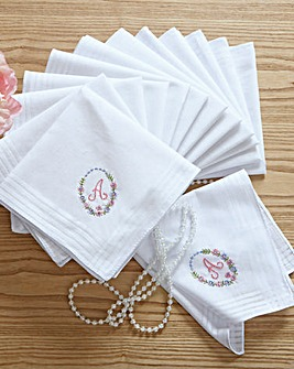 Ladies Handkerchiefs Pk 13 Personalised