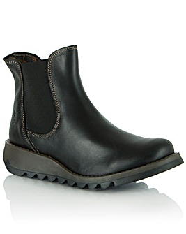 Fly London Black Womens Chelsea Boot