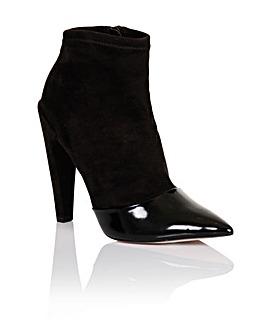 Little Mistress Black Toecap Ankle Boot