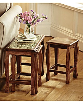 Three Piece Nesting Table Set