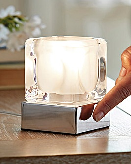 Glass Cube Touch Lamp