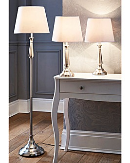 Table and Floor Lamp Set of 3