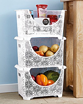 Stackable Storage Set of 3