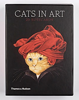 Cats in Art Notecards Pack of 20