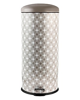 30 Litre Pedal Bin Lattice Natural