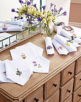 Flower of the Month Hankies Pack 12