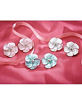 Flower Clip On Earrings Set of 3