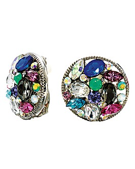 Glitzy Clip Earrings