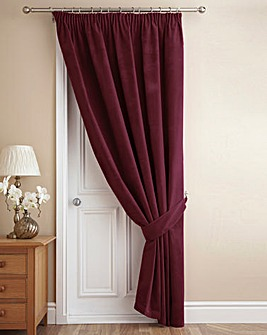 Thermal Velour Fully Lined Door Curtain