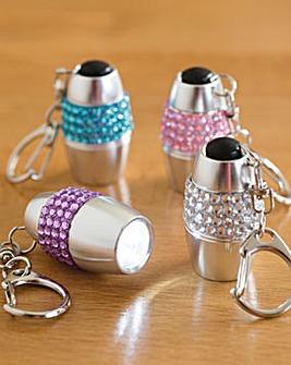 Diamante Keyring Torches Set of 4