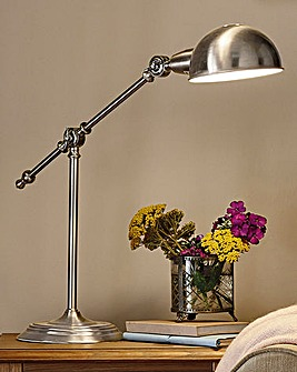 Satin Silver Table Lamp