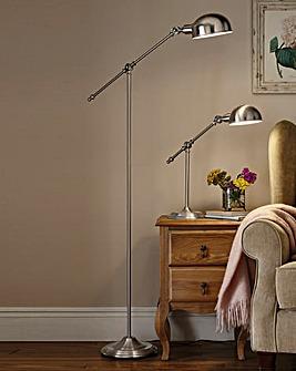Satin Silver Floor Standing Lamp