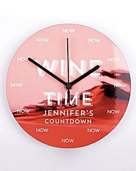 Wine Countdown Clock Personalised