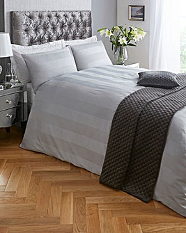 Signature Padua Silver Stripe Duvet Set