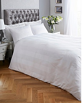 Signature Padua White Stripe Duvet Set