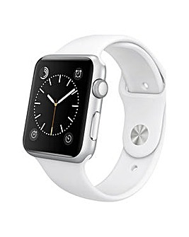 Apple Sport 42mm Silver Aluminum  White