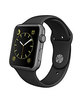 Apple Sport 42mm Space Grey  Black