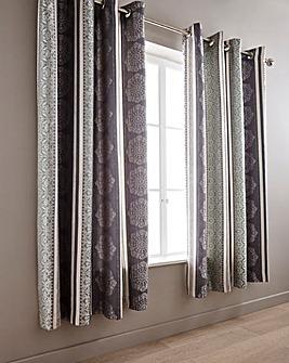 Kensington Jacquard Eyelet Curtains
