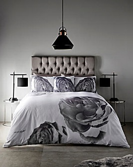 Karl Lagerfeld Pixel Rose Duvet Cover