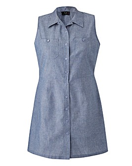 AX PARIS DENIM SHIRT DRESS