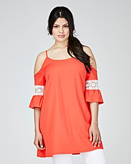 AX PARIS COLD SHOULDER TUNIC