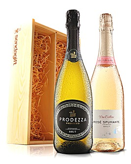 Virgin Wines Prosecco + Rose Fizz gift