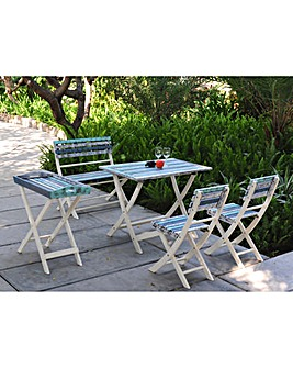 Strassbourg Patio Set & Tray Table