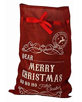 Merry Christmas Red Sack