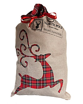 Tartan Reindeer Sacks