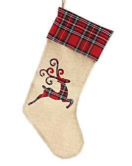 Tartan Reindeer Stockings