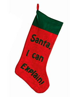 Santa I Can Explain Stocking