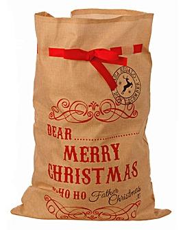 Merry Christmas Natural Sack